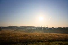 Dawn, landelijk landschap stock fotografie