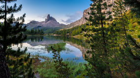 Dawn landscape of the Italian Dolomites Royalty Free Stock Photography