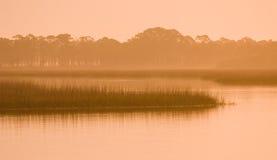 Dawn langs ICW Stock Afbeeldingen