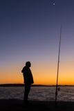 Dawn Light Fishing Imágenes de archivo libres de regalías