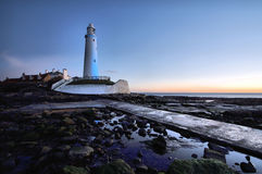 Dawn Light & Lighthouse Stock Images