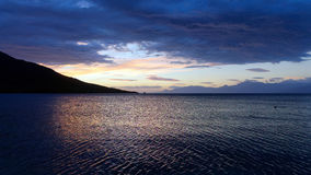 Dawn Light Reflected in Sea Stock Photography