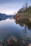 Dawn Lighting At The Duke Of Portland Boathouse In The Lake District. royalty free stock photo