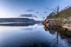 Dawn Lighting At The Duke Of Portland Boathouse In The Lake District. stock images