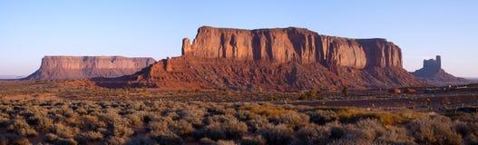 Dawn lights Sentinel Mesa Stock Images