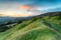 Dawn at the Llangattock Escarpment Stock Photo