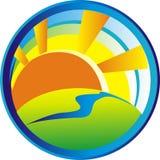 Dawn Logo dans le cirque Photo stock