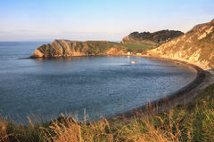 Dawn at Lulworth Cove Royalty Free Stock Photos