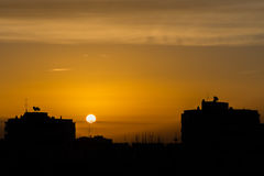 Dawn in Madrid Stock Images