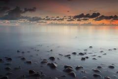 Dawn at Maitara, Ternate. Serenity and peaceful evening at Maitara, Ternate, Moluccas Indonesia Stock Image
