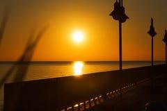 Dawn on the Mediterranean Sea Stock Photography