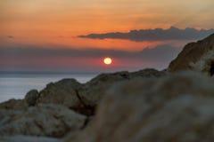 Dawn on the Mediterranean Sea Stock Photos