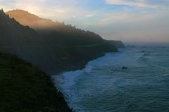 Dawn on the Mendocino Coast of California Royalty Free Stock Photography