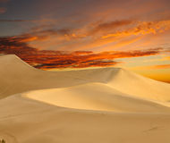 Dawn at mesquite dunes - death valley Stock Image