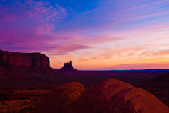 Dawn at Monument Valley Stock Images