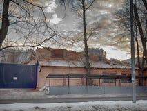 Dawn in Moskou Royalty-vrije Stock Afbeeldingen
