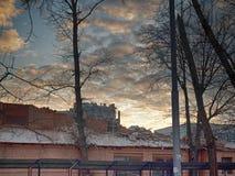 Dawn in Moskou Royalty-vrije Stock Foto's