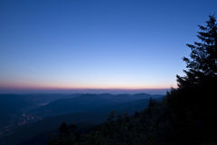 Dawn on mountain in France Stock Photography