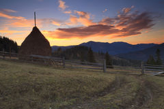 Dawn on the mountain Stock Image