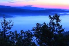 The dawn of the mountain Royalty Free Stock Photos