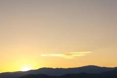 Dawn at the mountain Royalty Free Stock Photos