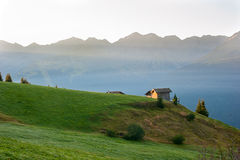 Dawn in the mountains of Austria Royalty Free Stock Photography