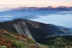 Dawn in the mountains royalty free stock images