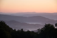 Dawn in mountains Carpathians. Stock Images