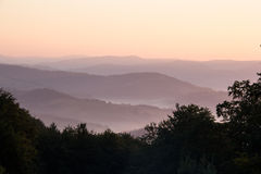 Dawn in mountains Carpathians. Royalty Free Stock Image