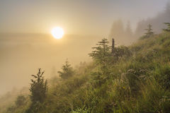 Dawn in the mountains Stock Photo