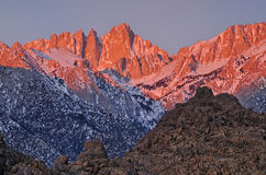Dawn, Mt. Whitney Stock Image