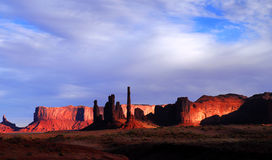 Dawn in Mystery Valley. Dramatic dawn in Mystery Valley with the light striking the rock formations Stock Photography