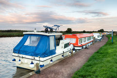 Dawn on the Norfolk Broads Stock Image