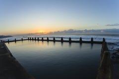 Dawn Ocean Pool Horizon Imágenes de archivo libres de regalías