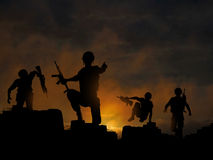 Dawn offensive Royalty Free Stock Photography