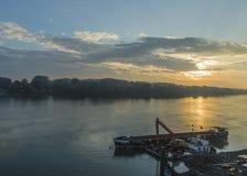 Dawn op de Donau Royalty-vrije Stock Afbeelding