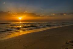 Dawn op de Middellandse Zee Stock Afbeeldingen