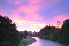 Dawn op de Tweed Stock Foto's