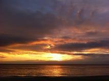 Dawn op de Zwarte Zee stock foto