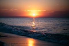 Dawn op de Zwarte Zee Royalty-vrije Stock Foto's