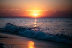 Dawn op de Zwarte Zee Royalty-vrije Stock Afbeeldingen