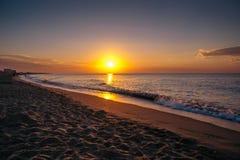 Dawn op de Zwarte Zee Stock Afbeelding