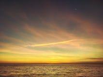 Dawn op de Zwarte Zee, Odessa, de Oekraïne, 2016 stock fotografie