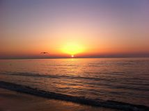 Dawn op de Zwarte Zee, Odessa, de Oekraïne, 2016 royalty-vrije stock foto
