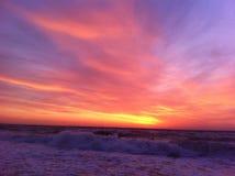 Dawn op de Zwarte Zee, Odessa, de Oekraïne, 2016 royalty-vrije stock foto's