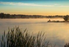 Dawn op het meer Stock Fotografie