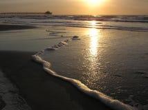 Dawn op het Strand van de Mirte Stock Fotografie