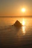 Dawn op meer Stock Afbeelding