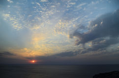 Dawn in Ordzhonikidze Royalty-vrije Stock Foto