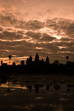 Dawn over AngkorWat. Dawn over the temple of Angkor Wat, Cambodia Stock Photo